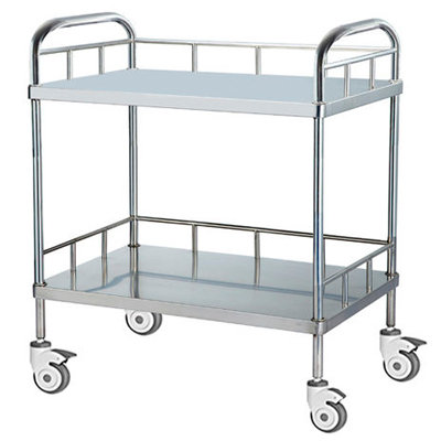 TROLLEY 2-SHELF S/STEEL - TIANJIN
