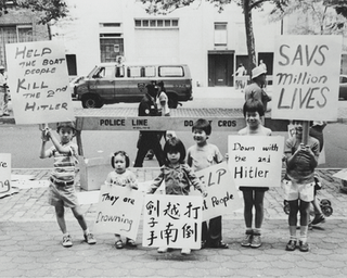 March at U.N. for Vietnamese boat people, July 15, 1979