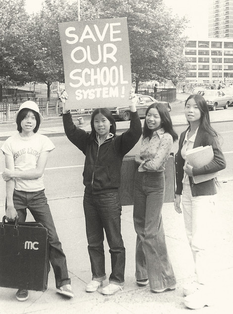 Students demonstrating, date unknown