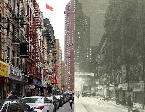 Photo of Bayard Street from Mott Street