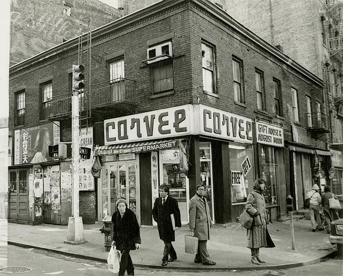Carvel ice cream shop sitting on the corner of Mott Street & Bayard Street