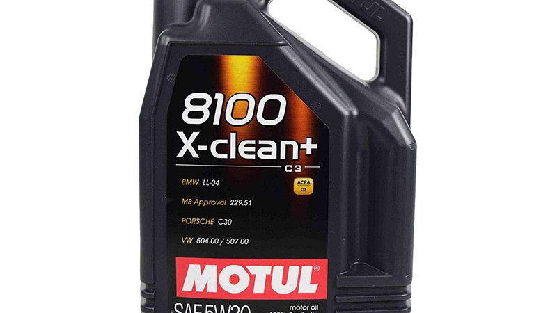 Motul 8100 X-Clean Plus 5W-30 Full Synthetic Motor Oil - 5 Liter