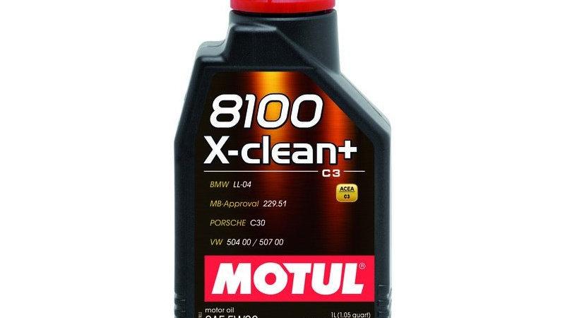 Motul 8100 X-Clean Plus 5W-30 Full Synthetic Motor Oil - 1 Liter