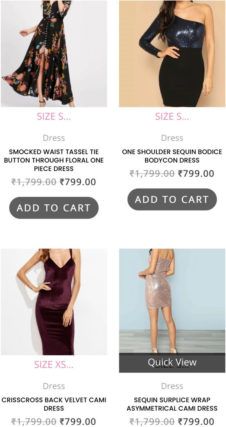 Dresses from Cameo