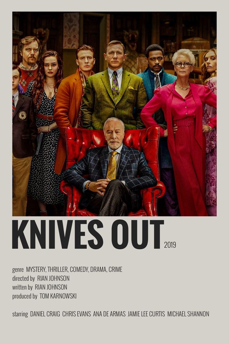 Knives out movie polaroid