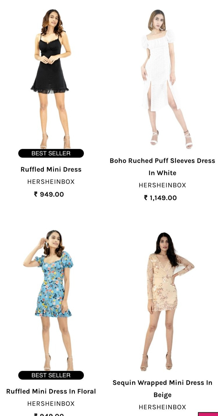 Dresses from Her Shein Box