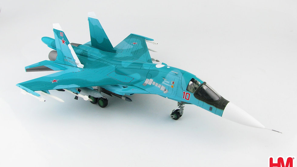 1/72 SU-34 FULLBACK FIGHTER BOMBER BORT 10 O.PESHKOV COMMEMORATIVE SCH