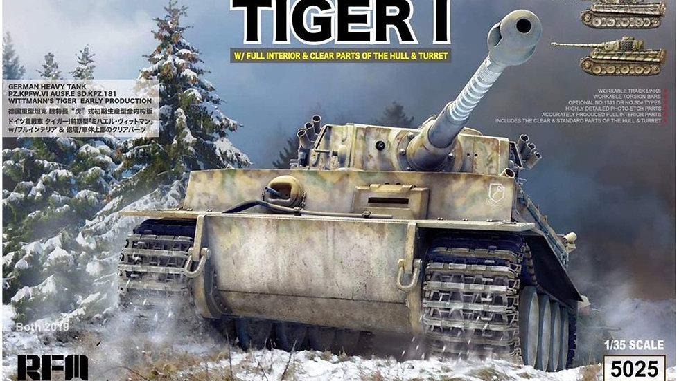 Rye Field Model RM5025 1:35 German Tiger I Early Prod Wittmann's Tiger 504 Kit