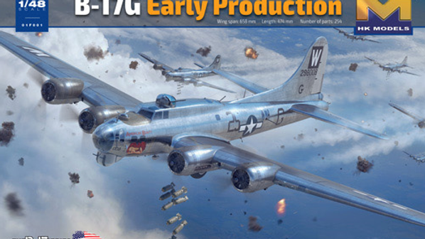 Hong Kong Models 1/48 B-17G Flying Fortress Early Production