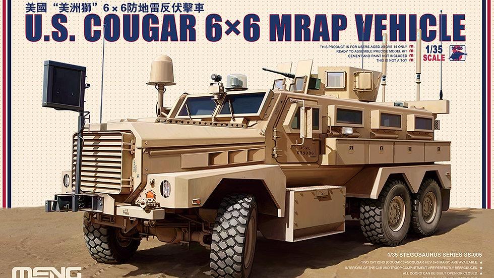 Meng Model 1:35 - US Cougar 6 x 6 MRAP Vehicle