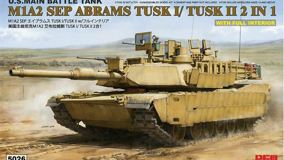 Rye Field 1:35 5026 M1A1/ M1A2 TUSK With Full Interior Model Military Kit