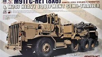 Meng Model 1:35 - US M911 C-HET & M747 Semi-Trailer