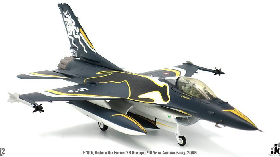 JC Wings 1/72 F16C ITALIAN AIR FORCE 23 GRUPPO 90TH ANNIVERSARY 2008