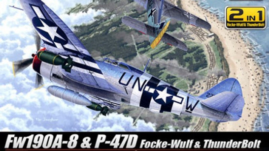 Academy 1/72 Fw190A-8 & P-47D D-Day 70th Anniversary edition.