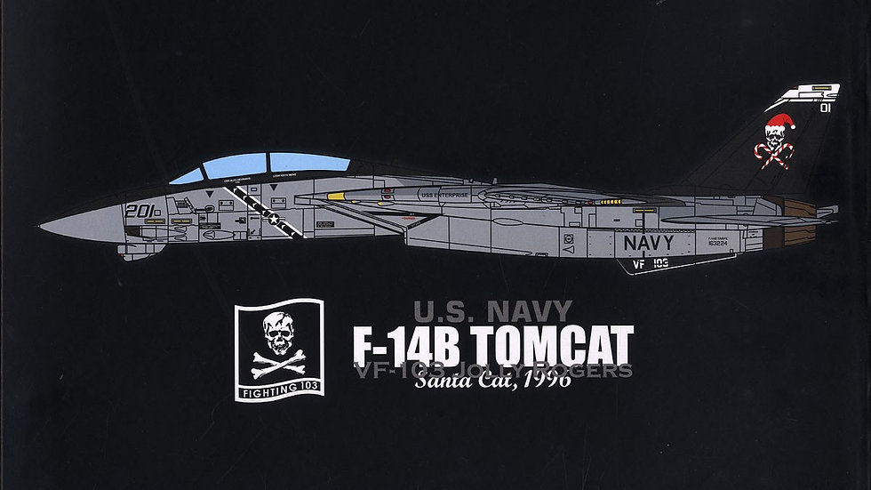 JC Wings 1/72 F-14B TOMCAT VF-103 JOLLY ROGERS SANTA CAT USS ENTERPRISE