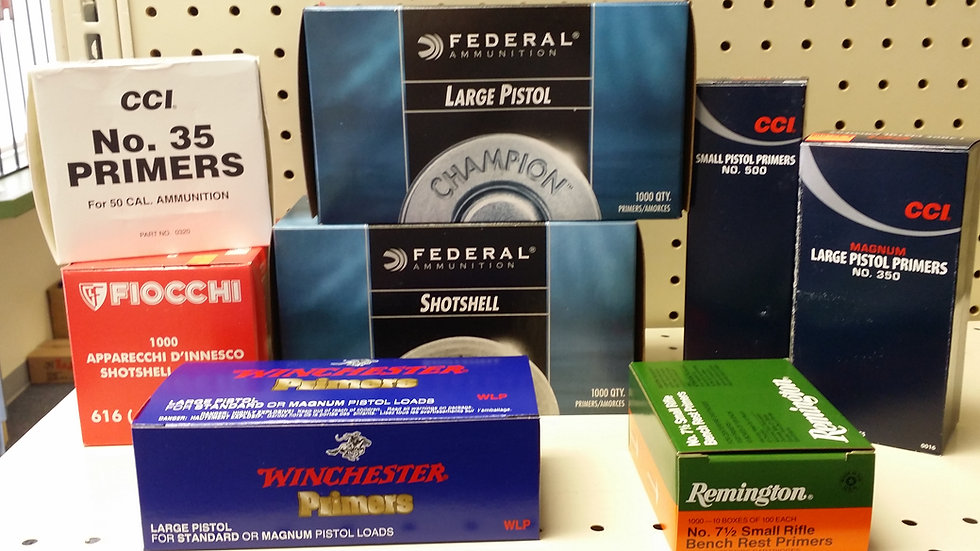 Primers-Federal/Remington/Win/CCI