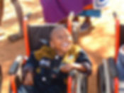 Wheelchair Foundation young boy in Africa