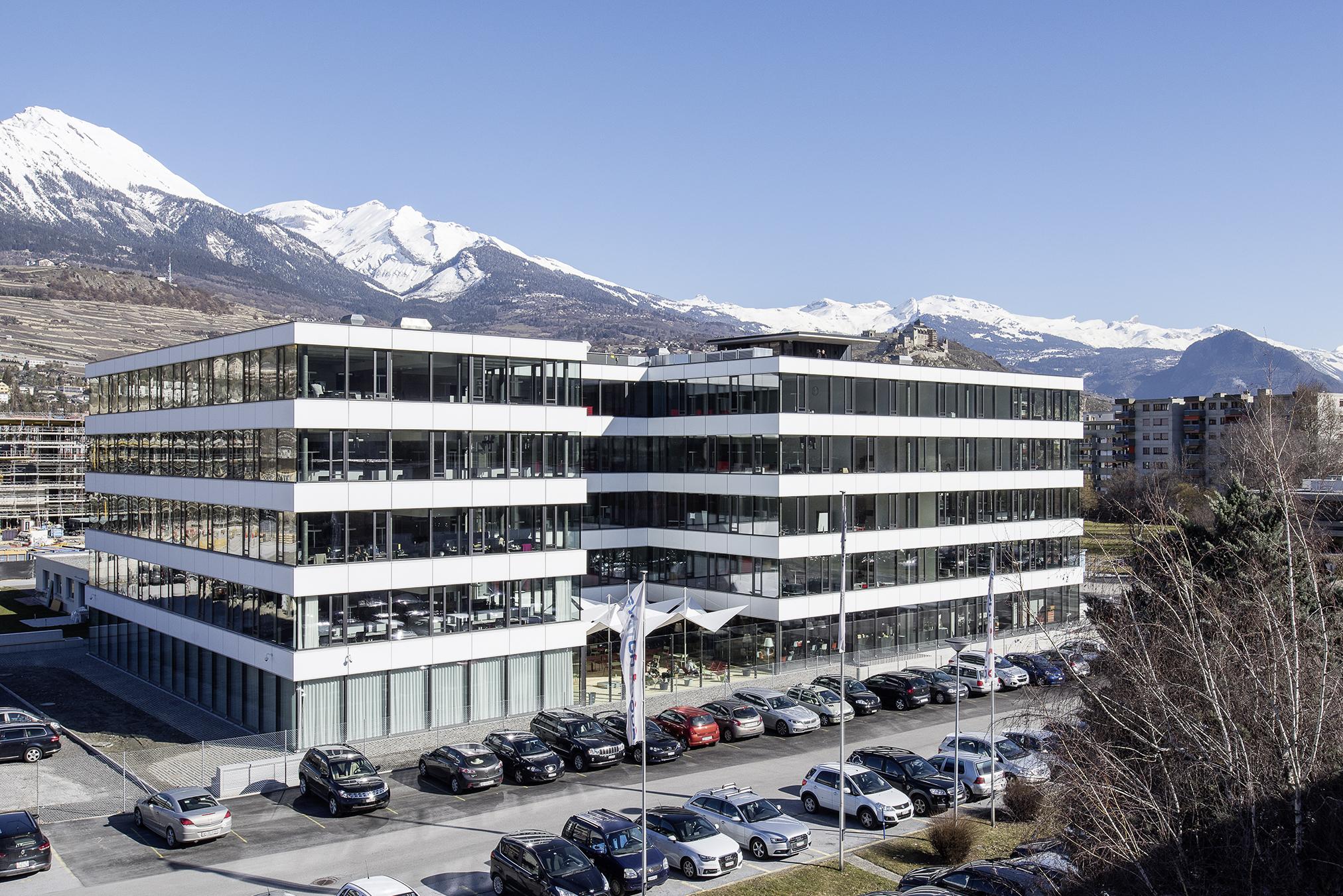 Swisscom Sion_façade vitrée