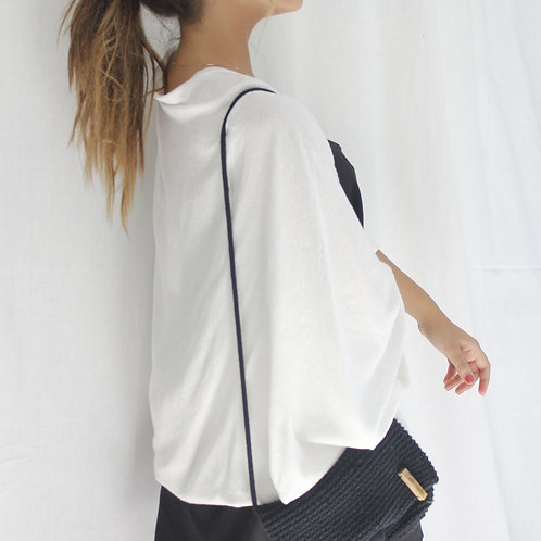 Kimono Tubular Trabalhado Branco