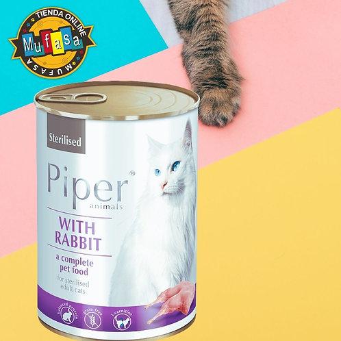 PIPER CAT CONEJO (400 GR)