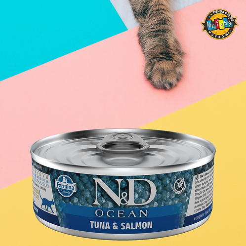 N&D ATÚN & SALMÓN ADULTO (80 gr)