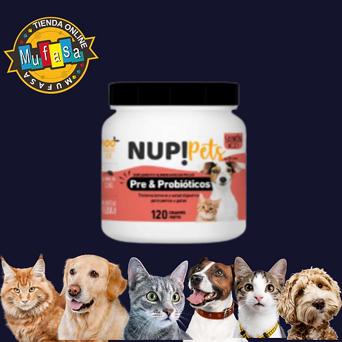 NUP! pets Pre & Probióticos (Sabor salmón))