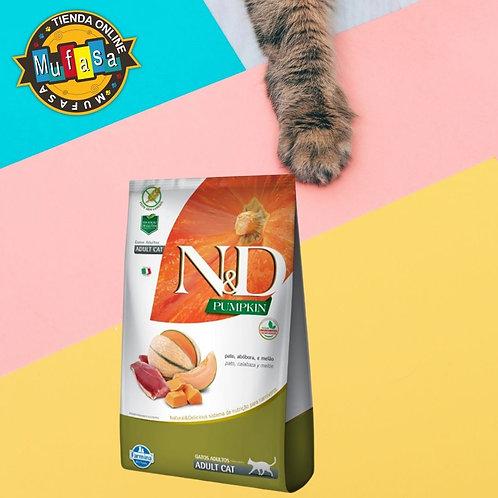 N&D PUMPKIN FELINE PATO MELAO ADULTO (1,5 KG)