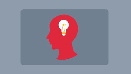 Head and lightbulb Logo