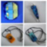Glass fused pendants_#microwavekiln #uni