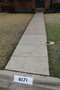 Front Walkway and Curb Address