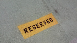 Parking Space Reserved