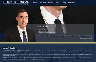Pierce Sergenian Site Preview