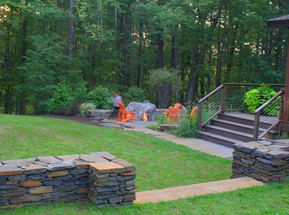 Firepit and terrace (design by Angie Verge)