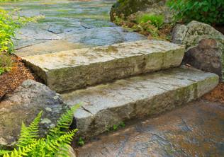 Reclaimed granite steps