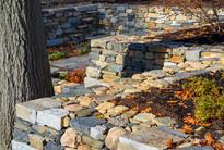 Dry laid stone walls (design by Gordon Hayward)