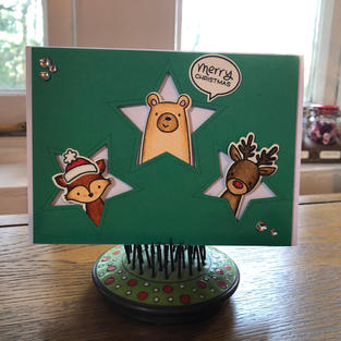 Peek-a-Boo Star Trio Green