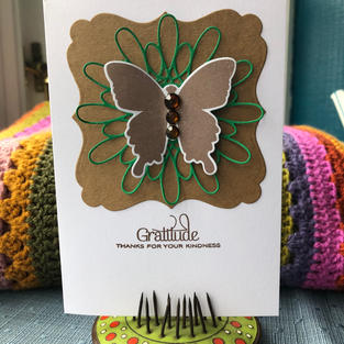 Gratitude Butterfly Kraft