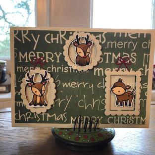 Triple Frame Reindeer
