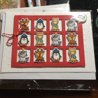 Red Christmas Critter Grid