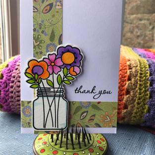 Jar of Flowers Pink/Purple