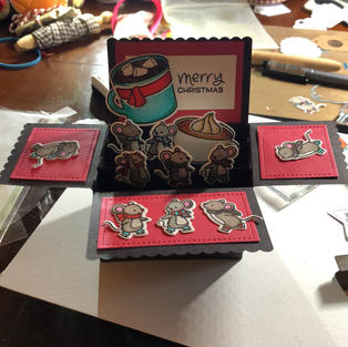 Christmas Mice Pop-Up Box