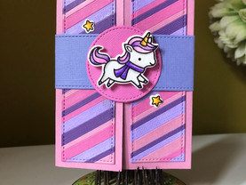 Very Girly Unicorn Card!