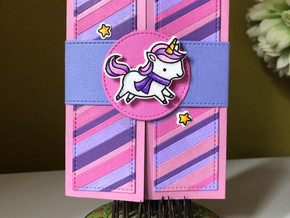 Very Girly Unicorn Card!