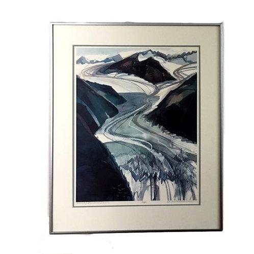 """Cover #2 Davidson Glacier"" S/n Lithograph by Ann Miletich"
