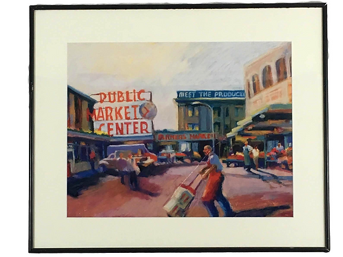 """Pike Place Market"" Gallery Print by Lois Silver"