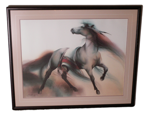"""Free Spirit"" S/n lithograph by Melinda Cowdery"