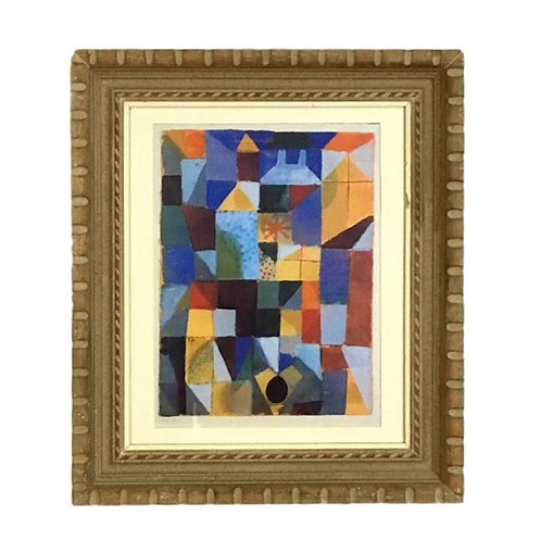 "1990s Lithograph ""Cityscape With Yellow Windows""by Paul Klee"