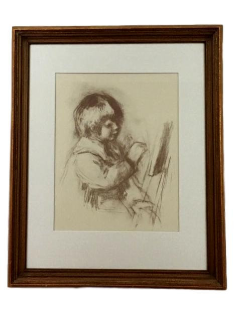 """1960's Impressionist Print, """"Small Painter"""" by Renoir"""