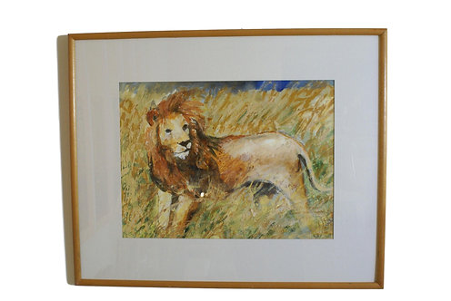 """Lioness"" Acrylic painting by Suza Talbot"
