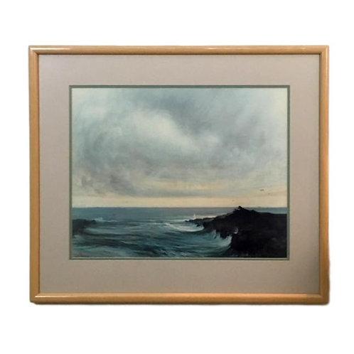 Seascape Watercolor by J Abbrescar